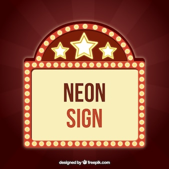 Neon sign with stars