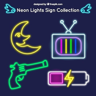 Neon signs objects