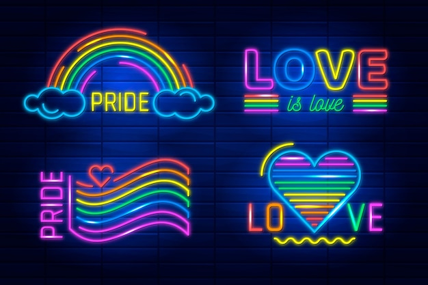 Neon signs for pride day event