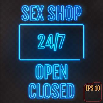 Neon signs set