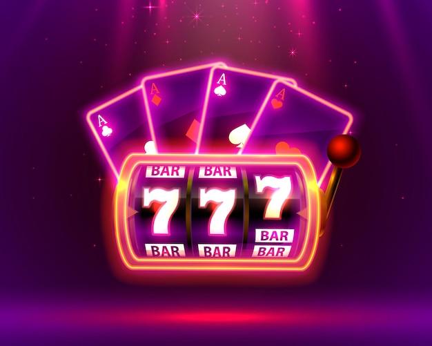 Игровой автомат neon, playing cards выигрывает джекпот.