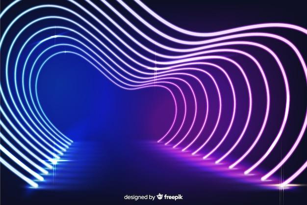Neon stage lights background