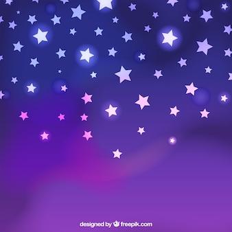 Neon stars on a purple background
