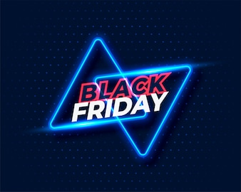 Neon style black friday background