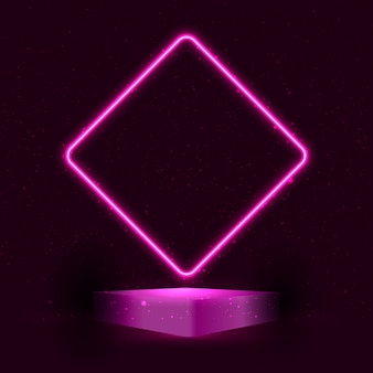 Neon style display podium presentation background
