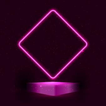 Sfondo di presentazione podio display stile neon