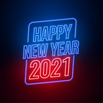 Neon style happy new year  background