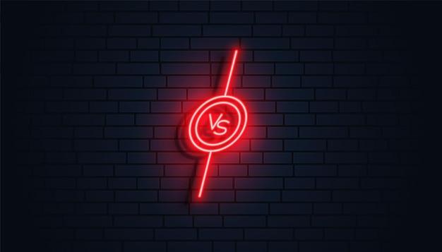 Stile neon contro design banner