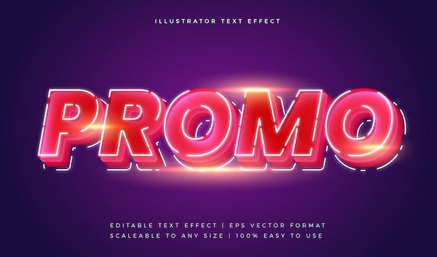 Эффект шрифта в стиле рекламного текста neon stylist