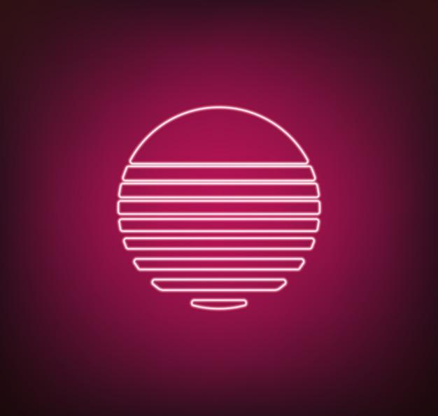 Neon sun vector