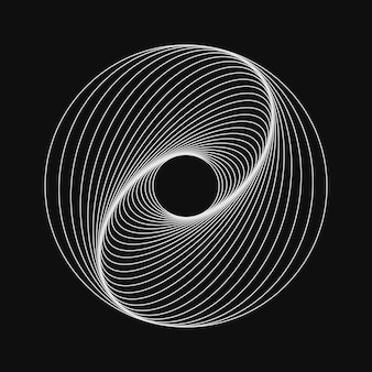 Neon swirling symbol illusion effect spiral background tunnel abstract design with lines and flow