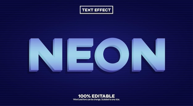 Эффект неонового текста