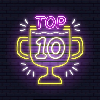 Неоновый топ 10 шаблонов