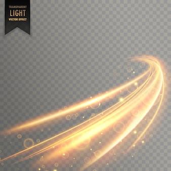 ネオン透明黄金の光の効果の背景