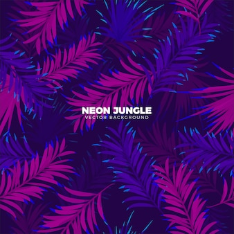 Neon Tropical Background