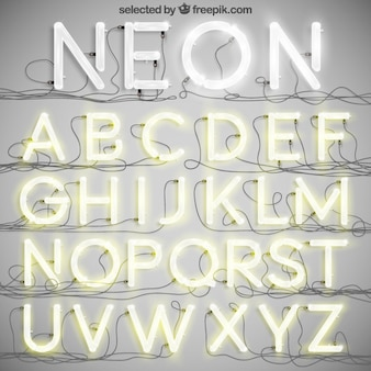 네온 타이포그래피