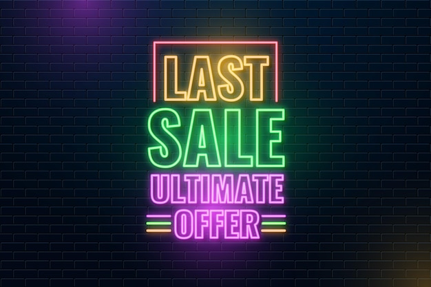Neon ultimate offer sale sign
