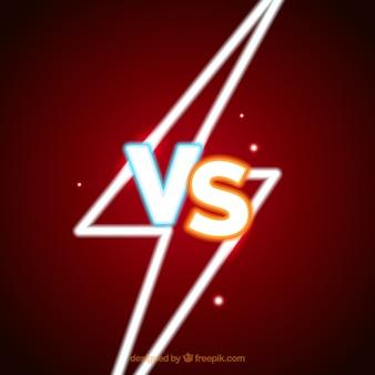 Neon versus background with lightning bolt