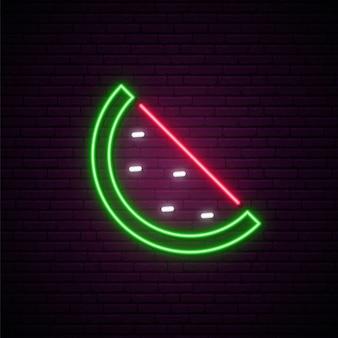 Neon watermelon sign