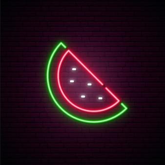 Neon watermelon sign.