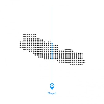 Nepal  doted map design vector