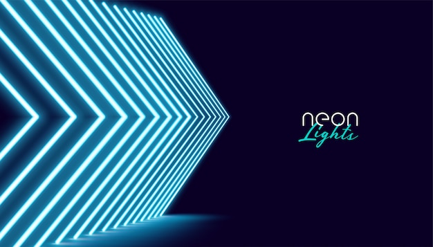 Neperspective directional arrow lights background