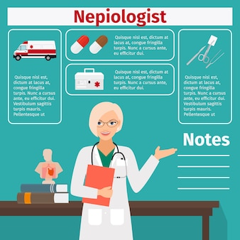Nepiologist and medical equipment template