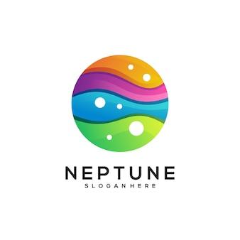 Нептун логотип красочный градиент