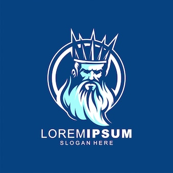 Дизайн логотипа нептун