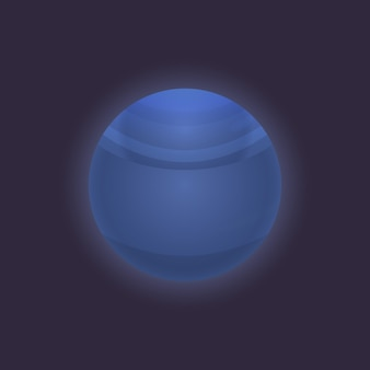 Neptune planet in deep space icon