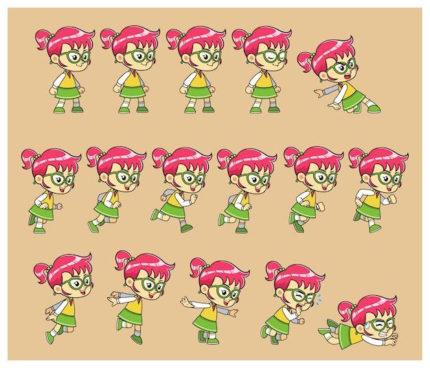 Nerdy girlゲームのスプライト