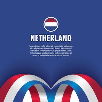 네덜란드 독립 기념일 벡터 템플릿 디자인 일러스트 레이 션
