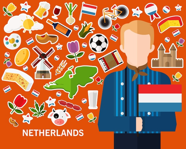 Netherlands concept background