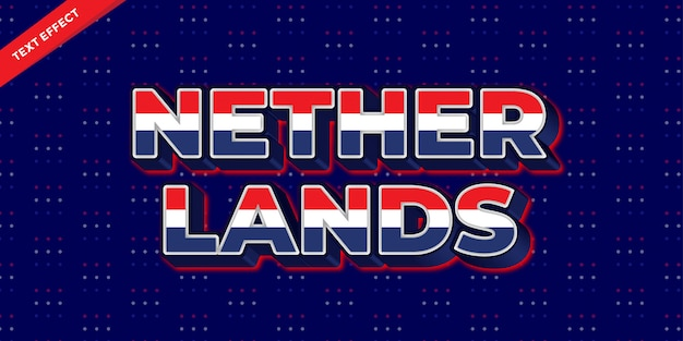 Netherlands flag color text style design templates