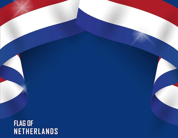 Netherlands flag ribbon shape