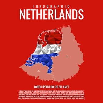 Netherlands map infographic