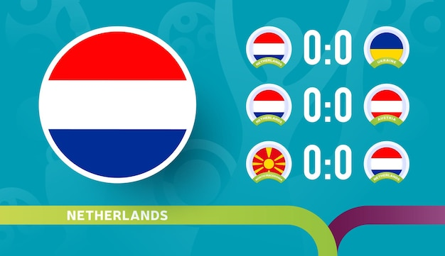 Netherlands national team schedule matches in the final stage at the 2020 football championship