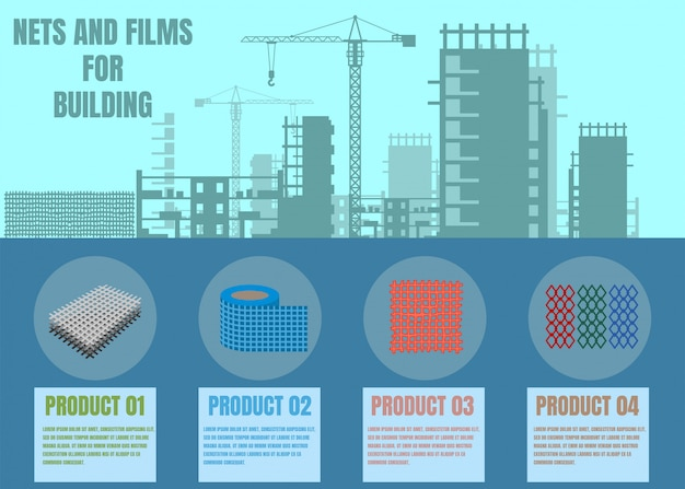 Nets and films for building online shop