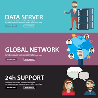 Network banners set