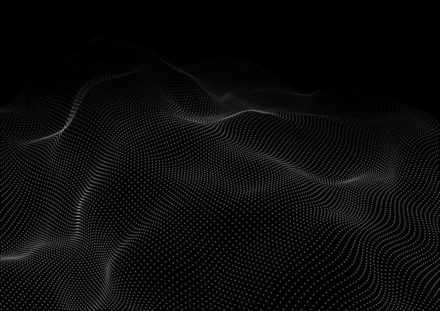 흐르는 사이버 도트 디자인으로 네트워크 통신