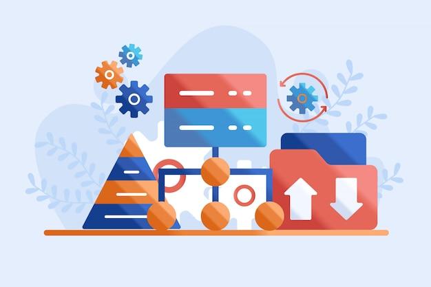 Network concept illustration