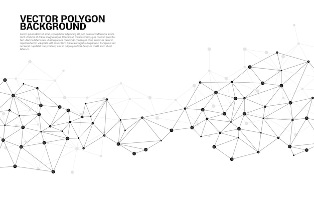 Network connecting dot polygon background  concept of network, business, connecting