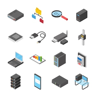 Network and connection devices icons