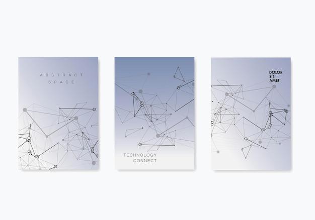 Брошюра о структуре сетевых подключений. плакат, баннер, брошюра, флаер. деловой инфографический шаблон. шаблон презентации. шаблон веб-страницы. концепция цифровых технологий науки.
