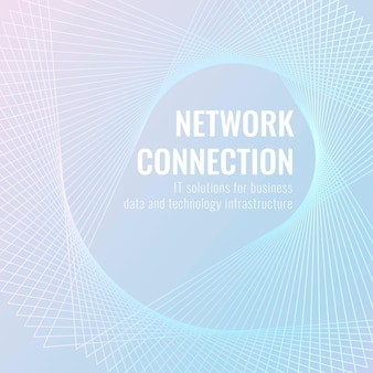 Network connection technology template vector for social media post/banner in light blue tone