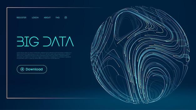 ネットワークの未来的な背景グローバルビッグデータクラウド抽象的なデジタルテクノロジーの背景