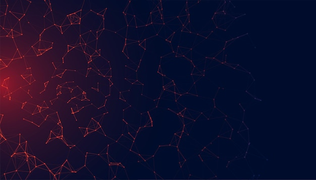 Network mesh low poly with glowing light