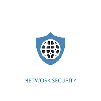 Network security concept 2 colored icon. simple blue element illustration. network security concept symbol design. can be used for web and mobile ui/ux