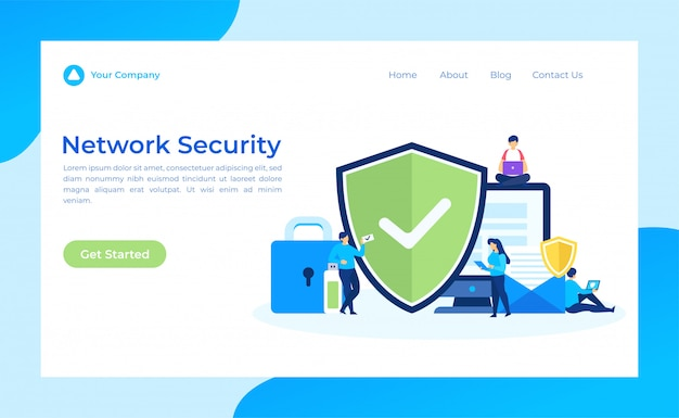Network security landing page
