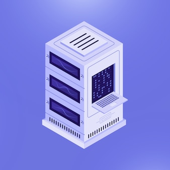 Network server computer template